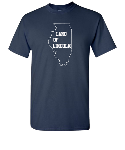 Land-Of-Lincoln-Short-Sleeve-T-Shirt-Navy