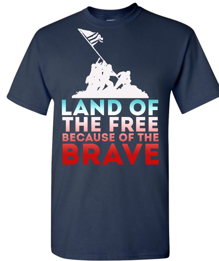Land Of The Free Short Sleeve T-Shirt - Navy