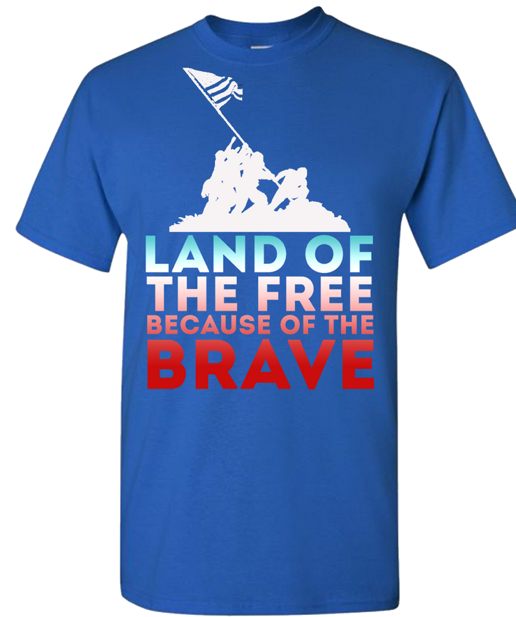 Land Of The Free Short Sleeve T-Shirt - Royal