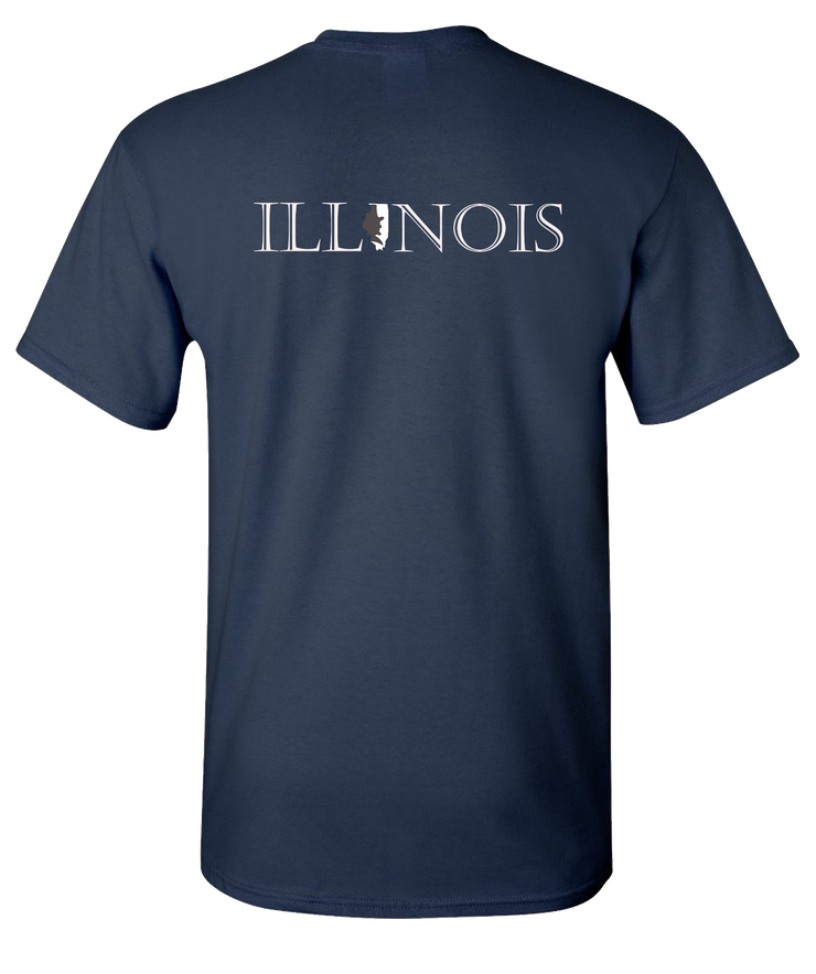 Lincoln-Illinois-Short-Sleeve-T-Shirt-Navy