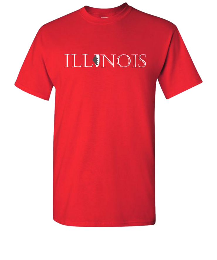 Lincoln-Illinois-Short-Sleeve-T-Shirt-Red