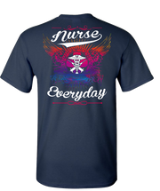 Nurse Earn There Wings Short Sleeve T-Shirt - Navy