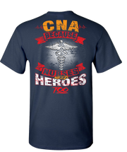 CNA Nurses Need Heroes Too Short Sleeve T-Shirt - Navy