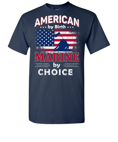 American By Birth Short Sleeve T-Shirt - Navy