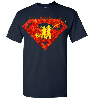 Super Firefighter 2 Short Sleeve T-Shirt - Navy