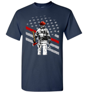 Firefighter Flag Short Sleeve T-Shirt - Navy