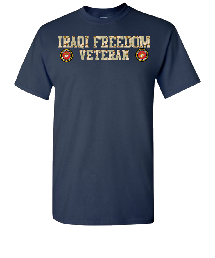 Iraqi Freedom USMC 2 Short Sleeve T-Shirt - Navy
