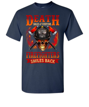 Death Smiles At Everyone Short Sleeve T-Shirt - Navy