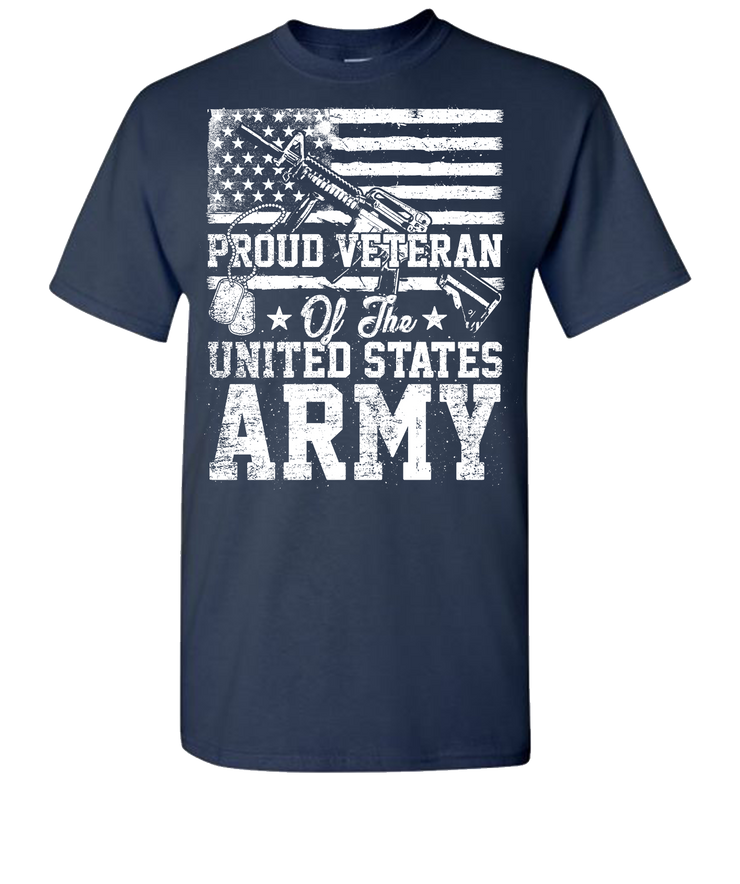 Proud Veteran Short Sleeve T-Shirt - Navy