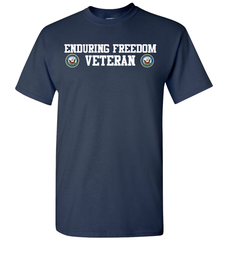 Enduring Freedom Navy 2 White Long Sleeve T-Shirt - Navy