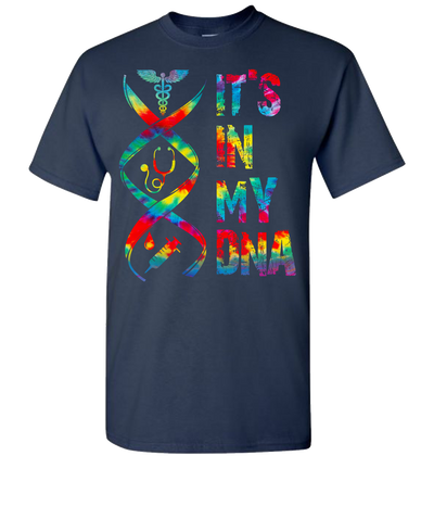 Nurse Its In My DNA Short Sleeve T-Shirt - Navy
