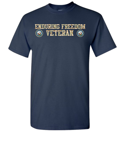 Enduring Freedom Navy 2 Camo Short Sleeve T-Shirt - Navy