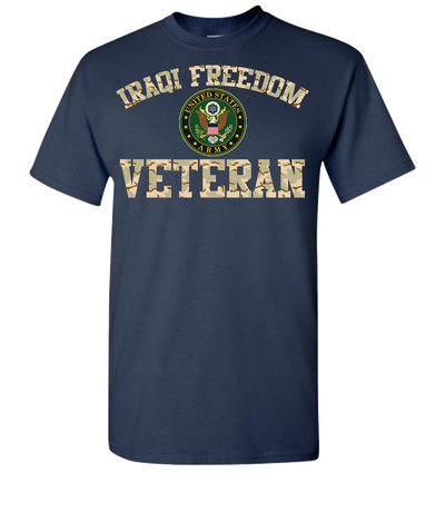 Iraqi Freedom Army 2 Short Sleeve T-Shirt - Navy