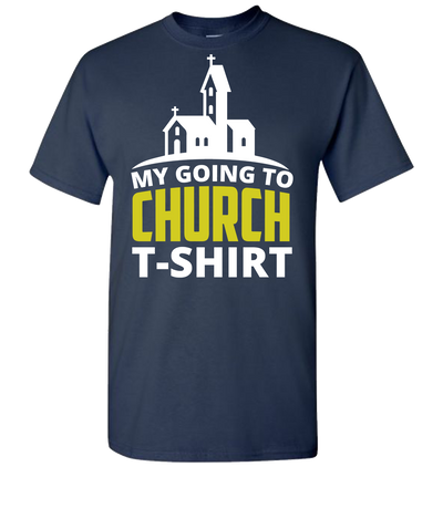 My Going To Church Short Sleeve T-Shirt - Navy