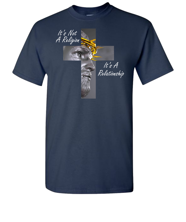 Christ In Cross Short Sleeve T-Shirt - Navy