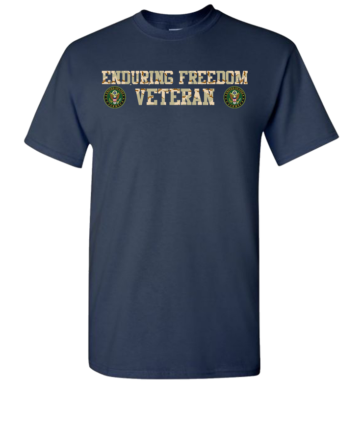 Enduring Freedom Army 2 Camo Short Sleeve T-Shirt - Navy