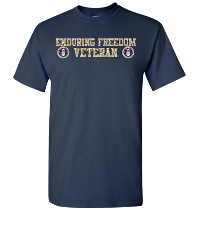 Enduring Freedom Airforce 2 Camo T-Shirt - Navy