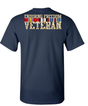 Endering Freedom Veteran with Ribbons Camo Short Sleeve T-Shirt - Navy
