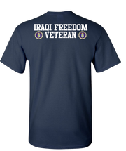 Iraqi Freedom Airforce 2 White Short Sleeve T-Shirt - Navy