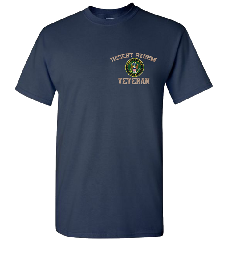 Desert Storm Army Short Sleeve Breast T-Shirt - Navy