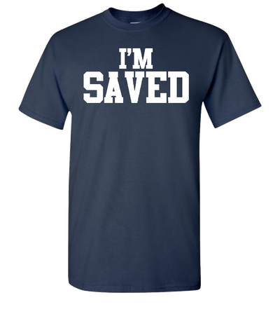 I'M Saved Short Sleeve T-Shirt - Navy