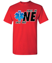First One In Last One Out EMS Short Sleeve T-Shirt - Red