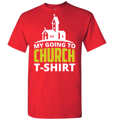 My Going To Church Short Sleeve T-Shirt - Red