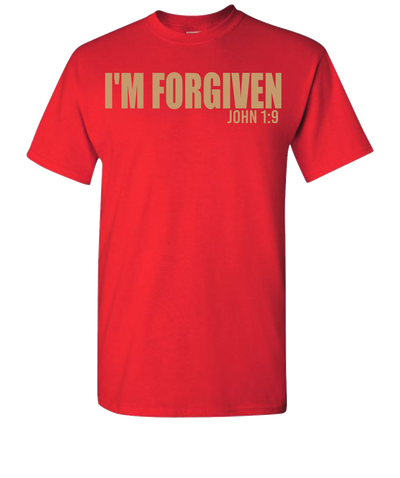 I'M Forgiven Short Sleeve T-Shirt - Red