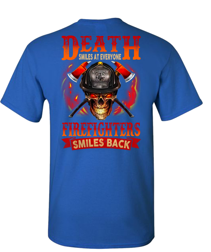 Death Smiles At Everyone Short Sleeve T-Shirt - Royal