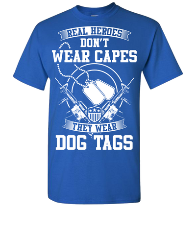 Real Heroes Dont Wear Capes Short Sleeve T-Shirt - Royal