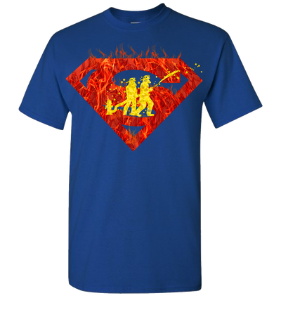 Super Firefighter 2 Short Sleeve T-Shirt - Royal