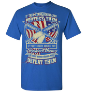 Protect Respect Defeat Short Sleeve T-Shirt - Royal
