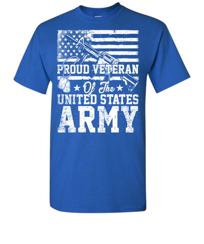 Proud Veteran Short Sleeve T-Shirt - Royal