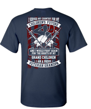 Veteran Grandpa Short Sleeve T-Shirt - Navy