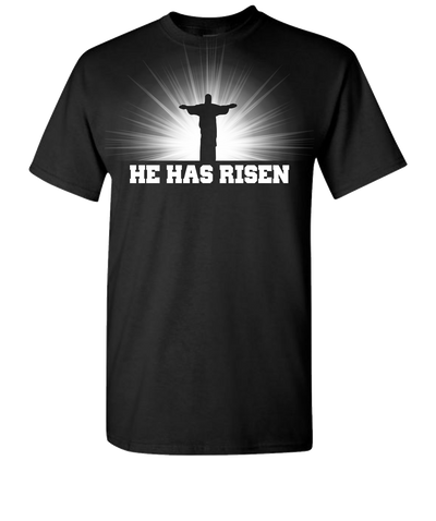 He Has Risen Short Sleeve T-Shirt - Black