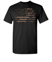 Camo Flag Short T-Shirt - Black
