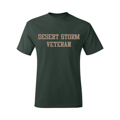 Desert Storm Veteran T-Shirt - Deep Forest