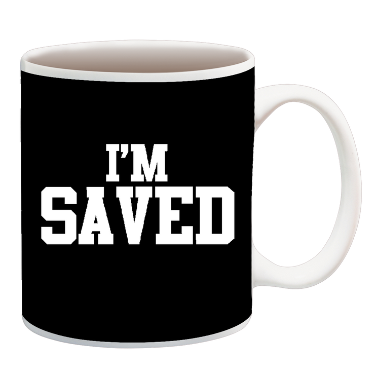 I'm Saved White Cup