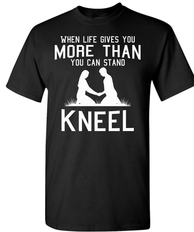 Kneel Short Sleeve T-Shirt - Black