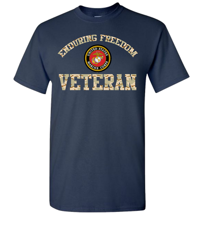 Enduring Freedom USMC Short Sleeve T-Shirt - Navy