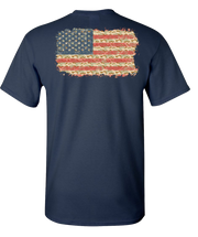 Camo Flag 2 Short Sleeve T-Shirt - Navy