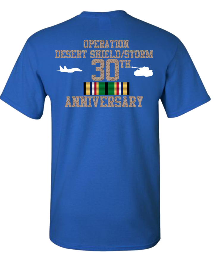 Operation Desert Storm/Shield 30 Anniversary T-Shirt - Navy