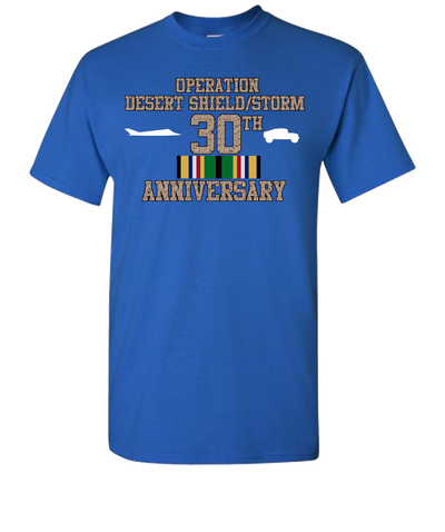 Operation Desert Storm/Shield 30th Anniversary Short Sleeve T-Shirt - Royal