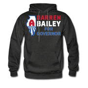 Bailey For Governor Hoodie - charcoal gray