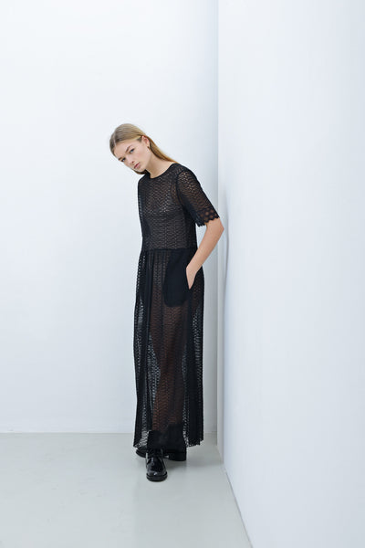 Nella long dress black