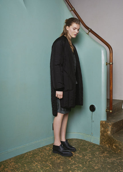 Darcy quilted coat black
