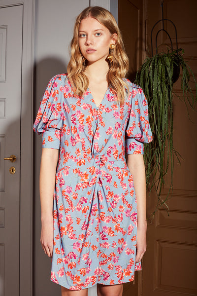 Marisa Dress Pacific Blue Print