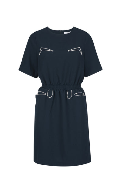 Andrea crepe dress midnight