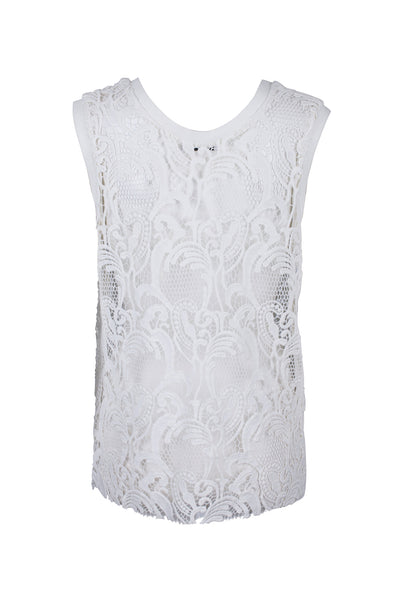 Asta lace top white