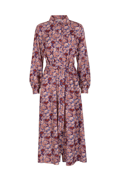 Alice Dress Mahogany Print